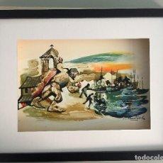 Arte: ROSER MUNTAÑOLA INGLADA (1928), ÓLEO FIRMADO Y REPRODUCIDO, 30X40CMS. Lote 151389582