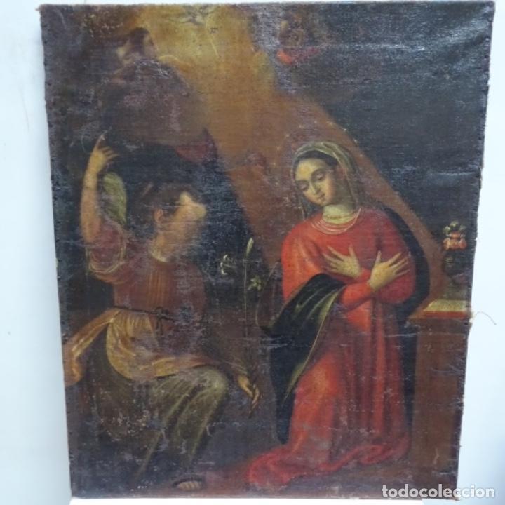 ÓLEO BARROCO SOBRE TELA DEL SIGLO XVII.GRAN CALIDAD.REENTELADO.ESCUELA SEVILLANA. (Arte - Pintura - Pintura al Óleo Antigua siglo XVII)