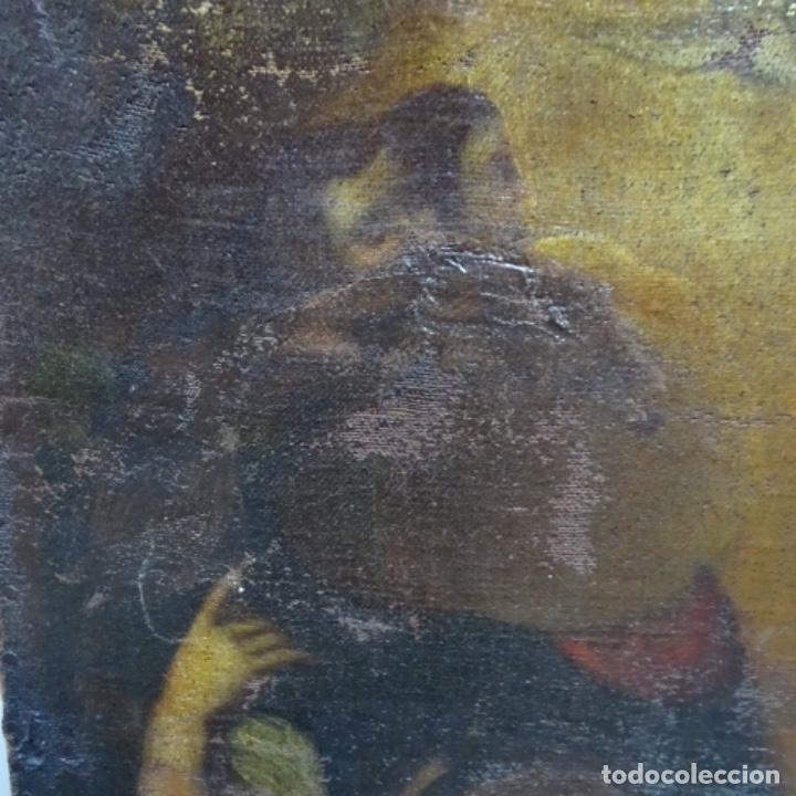 Arte: Óleo barroco sobre tela del siglo XVII.gran calidad.reentelado.escuela sevillana. - Foto 3 - 153264330