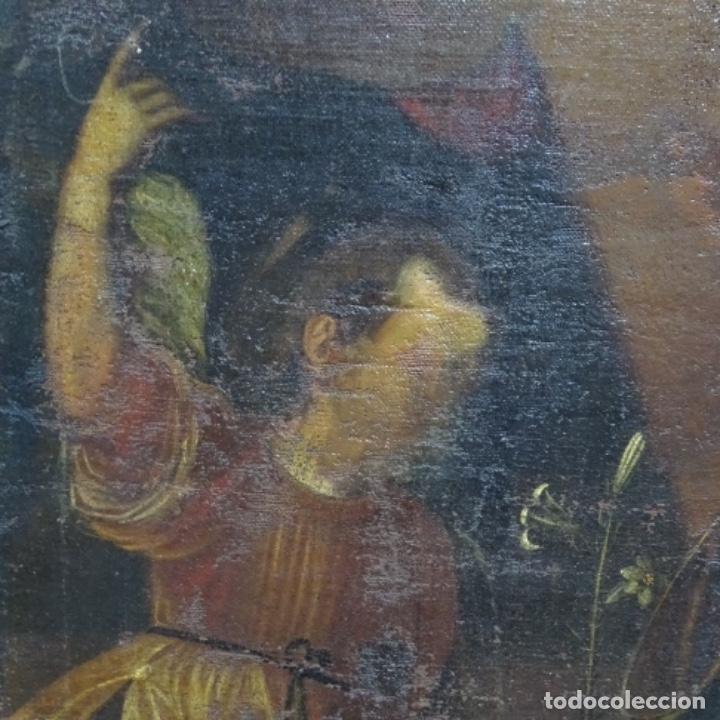 Arte: Óleo barroco sobre tela del siglo XVII.gran calidad.reentelado.escuela sevillana. - Foto 4 - 153264330