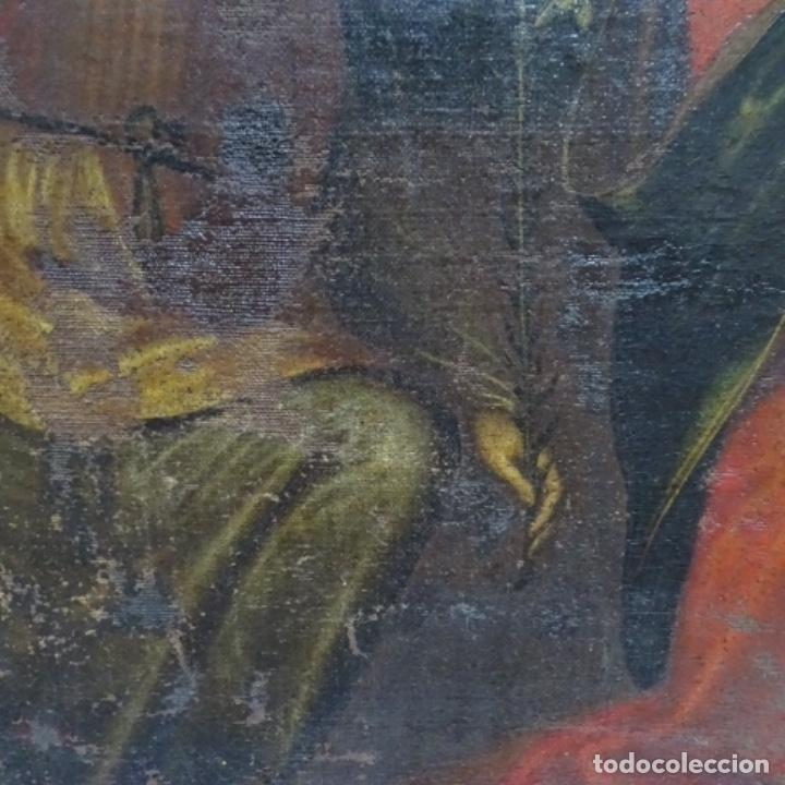 Arte: Óleo barroco sobre tela del siglo XVII.gran calidad.reentelado.escuela sevillana. - Foto 6 - 153264330