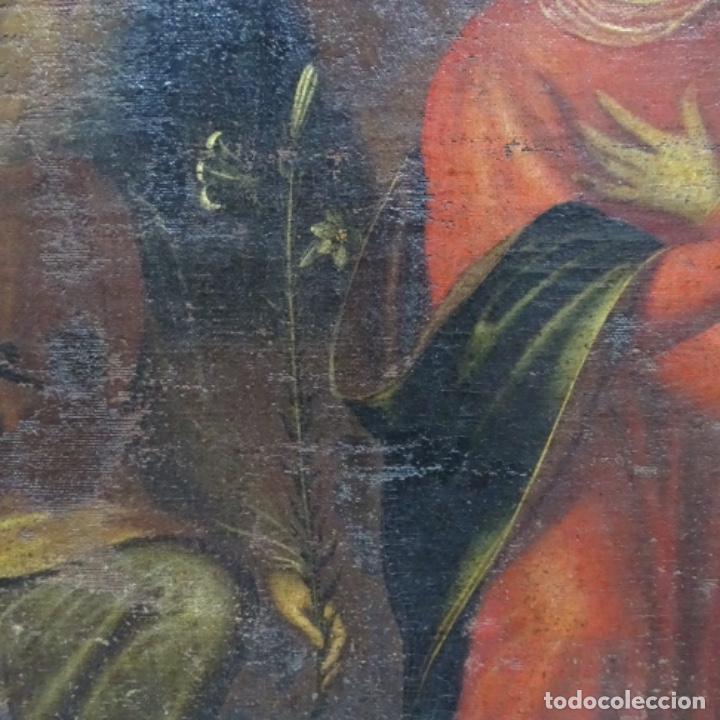 Arte: Óleo barroco sobre tela del siglo XVII.gran calidad.reentelado.escuela sevillana. - Foto 7 - 153264330