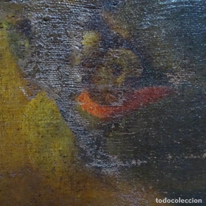 Arte: Óleo barroco sobre tela del siglo XVII.gran calidad.reentelado.escuela sevillana. - Foto 8 - 153264330