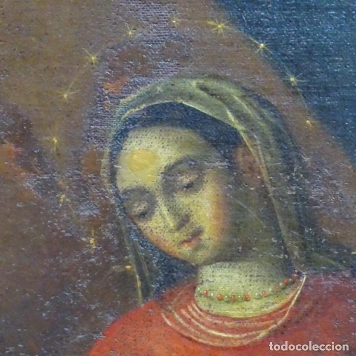 Arte: Óleo barroco sobre tela del siglo XVII.gran calidad.reentelado.escuela sevillana. - Foto 9 - 153264330