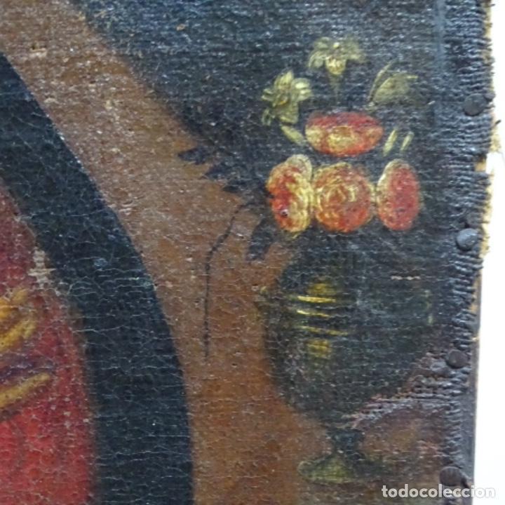 Arte: Óleo barroco sobre tela del siglo XVII.gran calidad.reentelado.escuela sevillana. - Foto 10 - 153264330