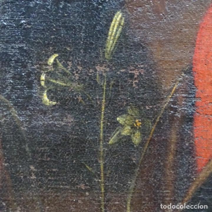 Arte: Óleo barroco sobre tela del siglo XVII.gran calidad.reentelado.escuela sevillana. - Foto 14 - 153264330