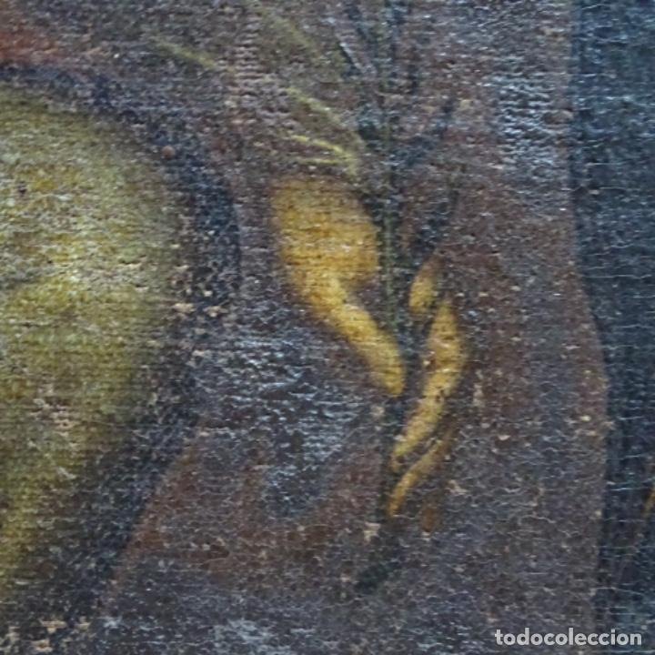 Arte: Óleo barroco sobre tela del siglo XVII.gran calidad.reentelado.escuela sevillana. - Foto 15 - 153264330