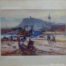 Arte: OLEO DE JOSEP SARQUELLA 1974.XIII SALÓN NÁUTICO INTERNACIONAL Y DEL DEPORTE 1975.. Lote 153266474