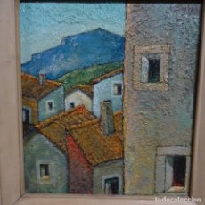 Arte: ÓLEO SOBRE TABLA DE LLUÍS CLAPES.MUCHA PASTA.. Lote 153268630