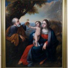 Arte: SAGRADA FAMILIA ÓLEO SOBRE LIENZO ESCUELA ESPAÑOLA SIGLO XVIII. Lote 153320706