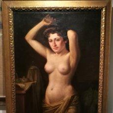 Arte: LA TOILETTE POR EUGENIO GIMENO REGNIER (XÁTIVA, 1848-1920). Lote 214923852