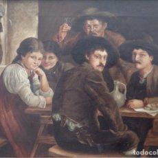 Arte: ANTONIO Mª LECUONA (PAÍS VASCO 1831-1907). ATRIBUIDO. FAMILA VASCA. Ó/L. S. XIX. MED: 60 X 45 CM.. Lote 153405010