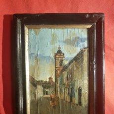 Arte: GERMÁN GÓMEZ NIEDERLEYTNER (VALENCIA, 1847-1895 ?) JÓVEN ALDEANA ,ÓLEO SOBRE TABLA 18 X 11'5. Lote 153470649