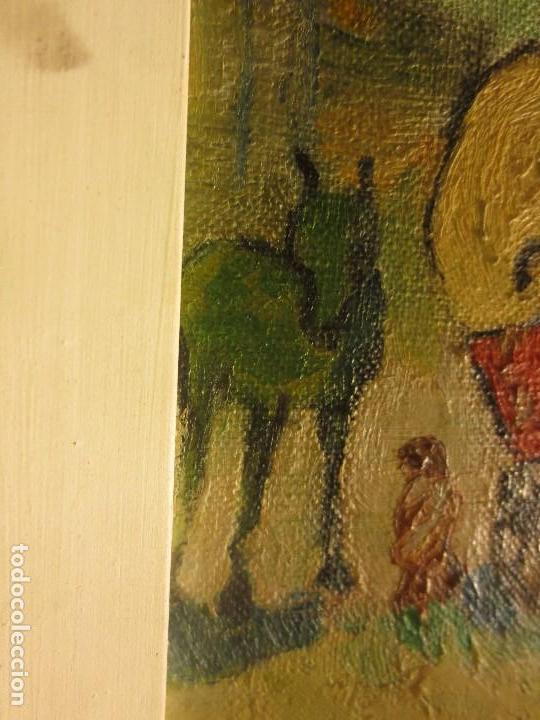 Arte: ANTIGUO OLEO PINTURA ANTIGUA MPRESIONISTA en lienzo principios siglo acepto ofertas - Foto 4 - 163806458
