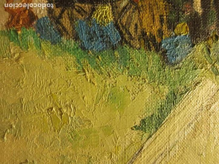 Arte: ANTIGUO OLEO PINTURA ANTIGUA MPRESIONISTA en lienzo principios siglo acepto ofertas - Foto 5 - 163806458