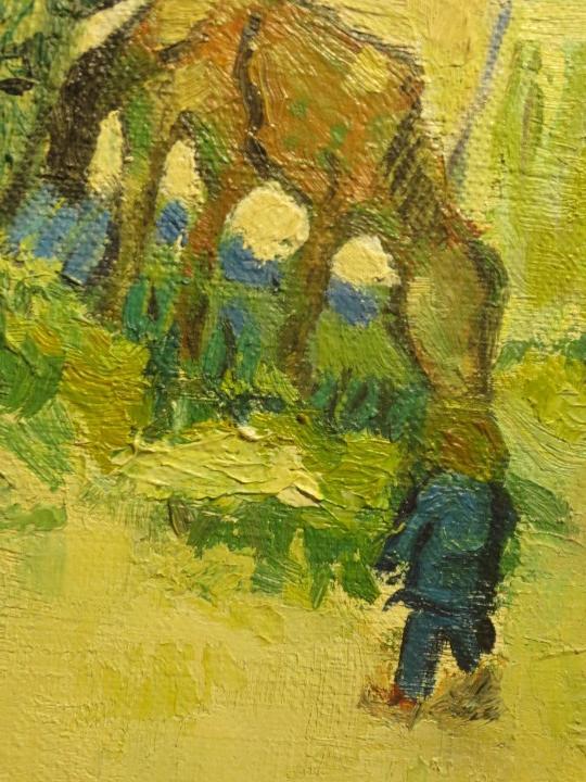 Arte: ANTIGUO OLEO PINTURA ANTIGUA MPRESIONISTA en lienzo principios siglo acepto ofertas - Foto 6 - 163806458