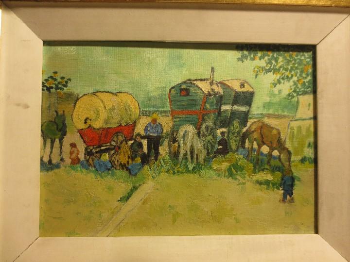 Arte: ANTIGUO OLEO PINTURA ANTIGUA MPRESIONISTA en lienzo principios siglo acepto ofertas - Foto 10 - 163806458