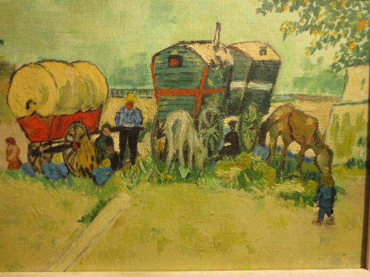 Arte: ANTIGUO OLEO PINTURA ANTIGUA MPRESIONISTA en lienzo principios siglo acepto ofertas - Foto 2 - 163806458