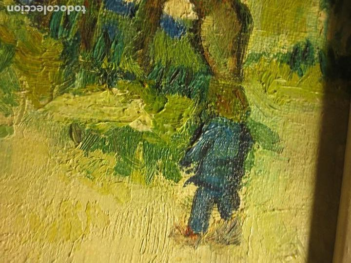 Arte: ANTIGUO OLEO PINTURA ANTIGUA MPRESIONISTA en lienzo principios siglo acepto ofertas - Foto 17 - 163806458