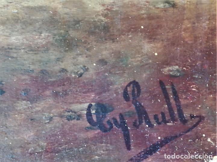 Arte: PINTURA,OLEO SOBRE TABLA,SIGLO XIX,CABALLERO CON ESPADA Y COPA,PINTOR JOAQUIN ESPALTER RULL,FIRMADO - Foto 4 - 153495762