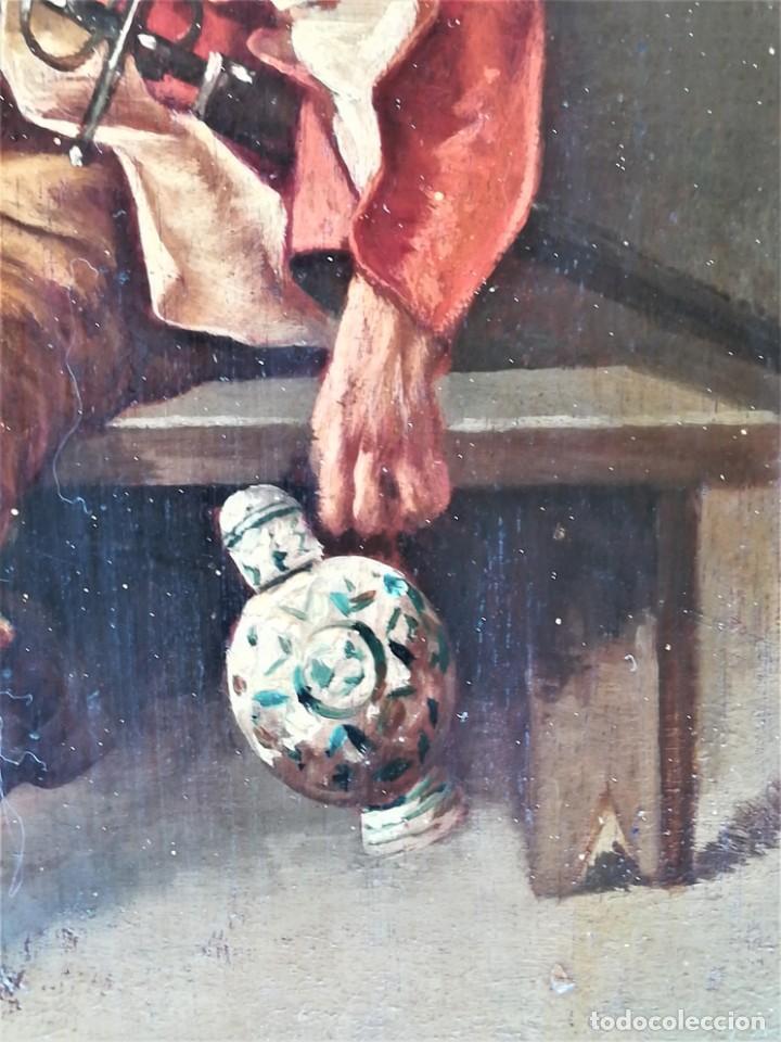 Arte: PINTURA,OLEO SOBRE TABLA,SIGLO XIX,CABALLERO CON ESPADA Y COPA,PINTOR JOAQUIN ESPALTER RULL,FIRMADO - Foto 5 - 153495762
