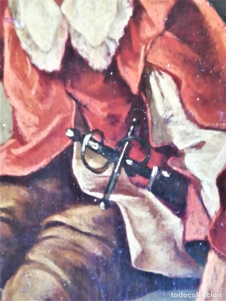 Arte: PINTURA,OLEO SOBRE TABLA,SIGLO XIX,CABALLERO CON ESPADA Y COPA,PINTOR JOAQUIN ESPALTER RULL,FIRMADO - Foto 6 - 153495762