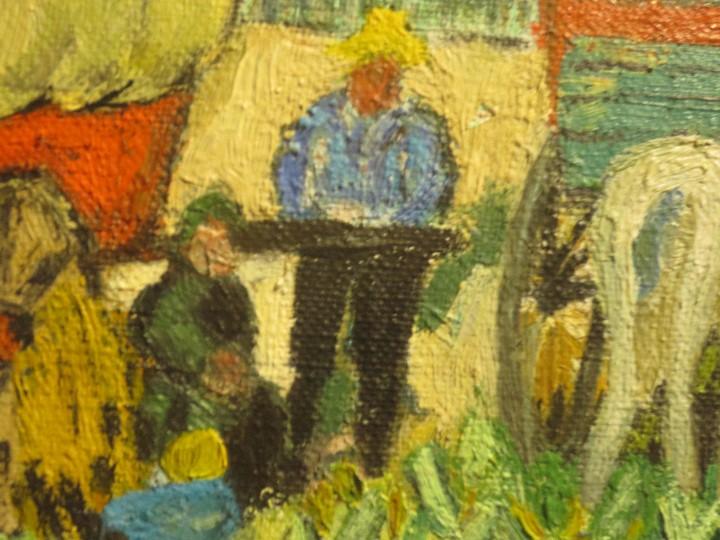 Arte: ANTIGUO OLEO PINTURA ANTIGUA MPRESIONISTA en lienzo principios siglo acepto ofertas - Foto 3 - 163806458