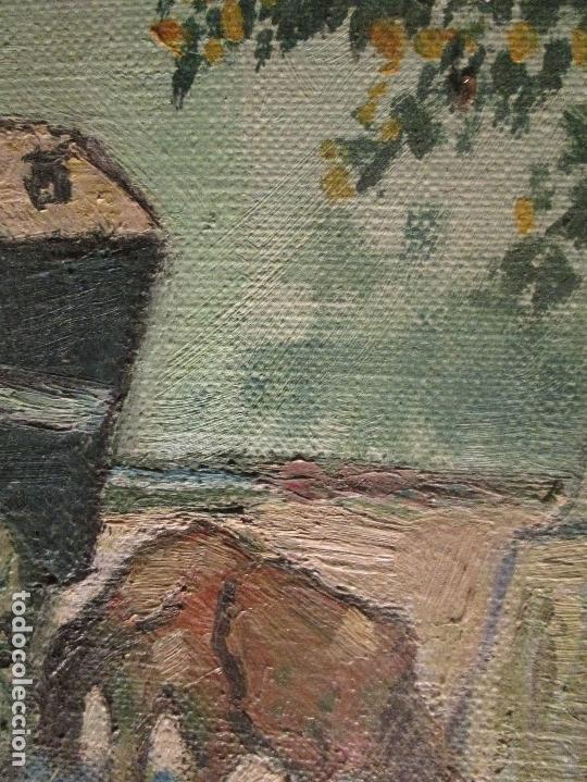 Arte: ANTIGUO OLEO PINTURA ANTIGUA MPRESIONISTA en lienzo principios siglo acepto ofertas - Foto 16 - 163806458