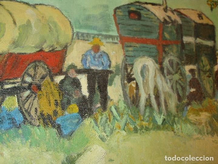 Arte: ANTIGUO OLEO PINTURA ANTIGUA MPRESIONISTA en lienzo principios siglo acepto ofertas - Foto 12 - 163806458