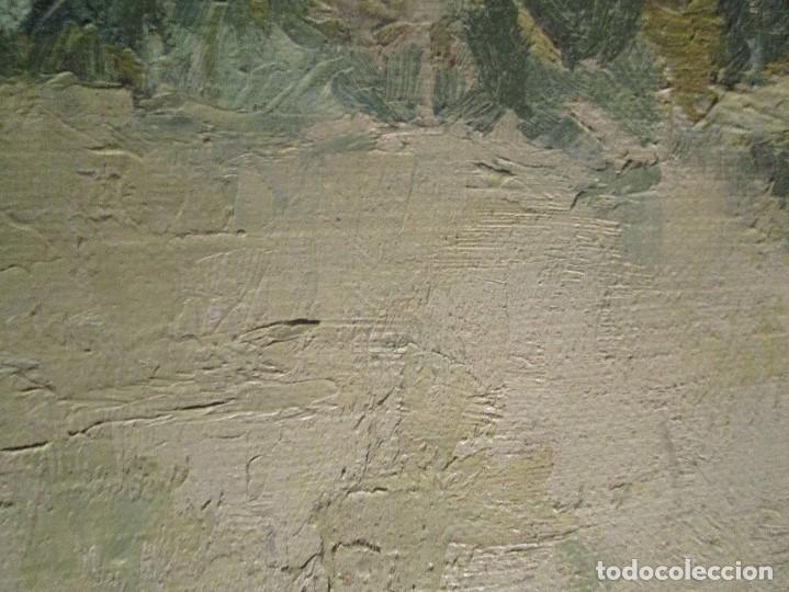 Arte: ANTIGUO OLEO PINTURA ANTIGUA MPRESIONISTA en lienzo principios siglo acepto ofertas - Foto 13 - 163806458