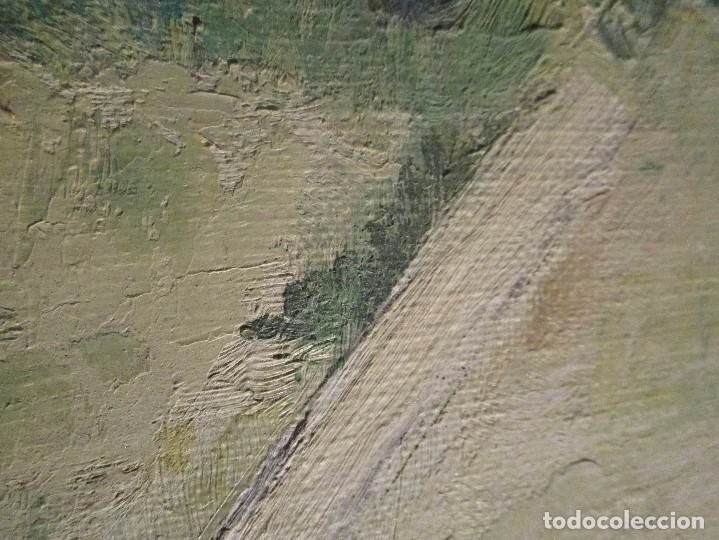 Arte: ANTIGUO OLEO PINTURA ANTIGUA MPRESIONISTA en lienzo principios siglo acepto ofertas - Foto 14 - 163806458