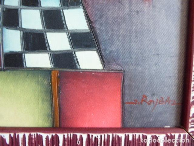 Arte: EXCELENTE PAREJA DE OLEOS SOBRE LIENZO DE J. ROYBAL. SERIE DE MUSICOS. 43 X 52 CM C/U MEDIDAS CON - Foto 4 - 153531078