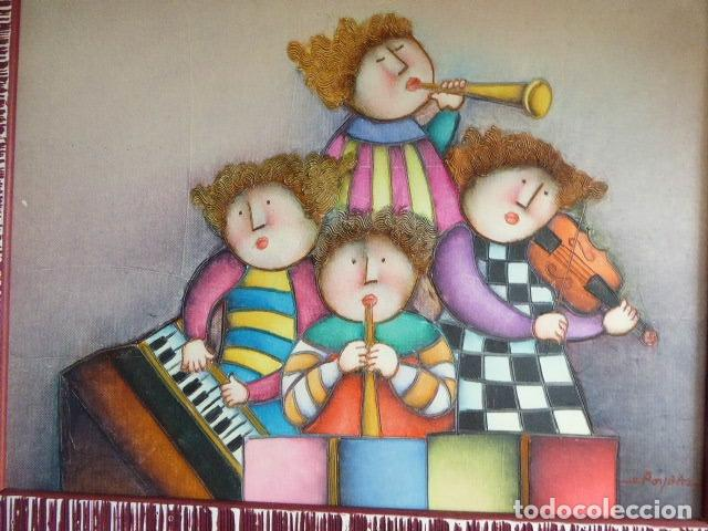 Arte: EXCELENTE PAREJA DE OLEOS SOBRE LIENZO DE J. ROYBAL. SERIE DE MUSICOS. 43 X 52 CM C/U MEDIDAS CON - Foto 6 - 153531078