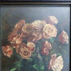 Arte: BODEGÓN DE ROSAS POR JOAN BARBETA ANTONES. Lote 153549084
