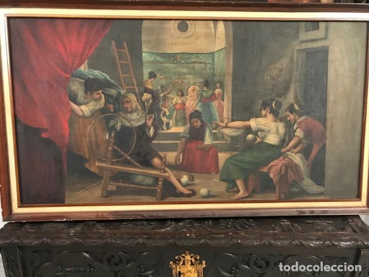 GRAN COPIA HILANDERAS DE VELAZQUEZ (Arte - Pintura - Pintura al Óleo Antigua sin fecha definida)