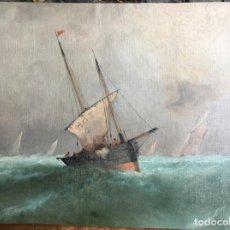 Arte: ALDRIDGE FREDERICK JAMES (1850-1933) PINTOR BRITANICO, TELA PEGADA A CARTÓN. Lote 153609094