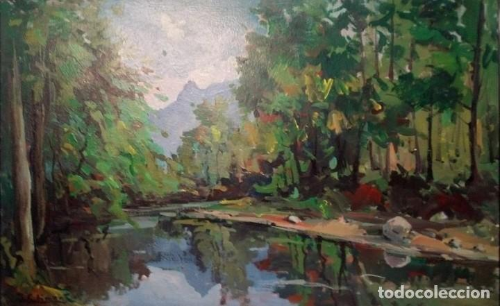 OLEO SOBRE TABLEX DE J. CLIMENT PINTOR DE TERRASSA (Arte - Pintura - Pintura al Óleo Contemporánea )