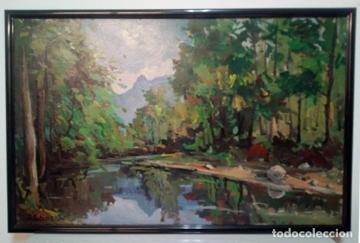 Arte: Oleo sobre tablex de J. Climent pintor de Terrassa - Foto 2 - 153640914