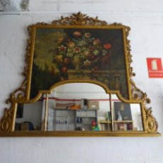 Arte: ÓLEO ANONIMO DEL SIGLO XVIII-XIX CON MUEBLE DE MADERA TALLADO Y ESPEJOS.GRAN CALIDAD.. Lote 153742766