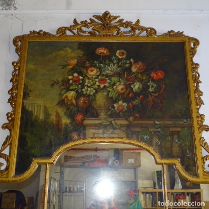 Arte: Óleo anonimo del siglo xviii-xix con mueble de madera tallado y espejos.gran calidad. - Foto 2 - 153742766