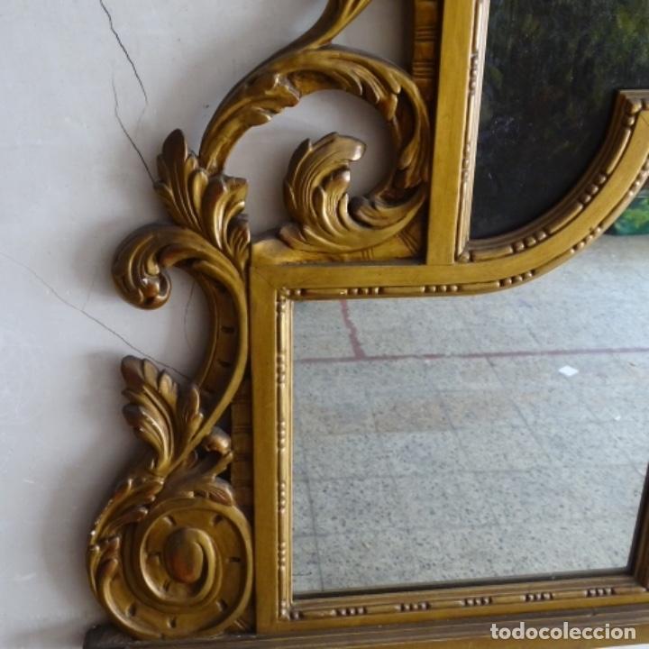 Arte: Óleo anonimo del siglo xviii-xix con mueble de madera tallado y espejos.gran calidad. - Foto 3 - 153742766