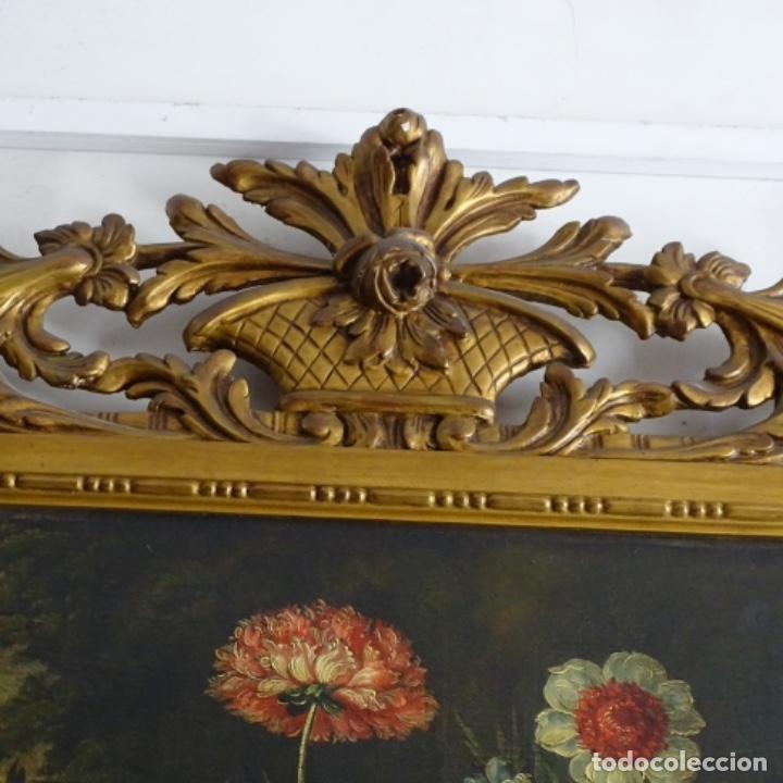 Arte: Óleo anonimo del siglo xviii-xix con mueble de madera tallado y espejos.gran calidad. - Foto 4 - 153742766