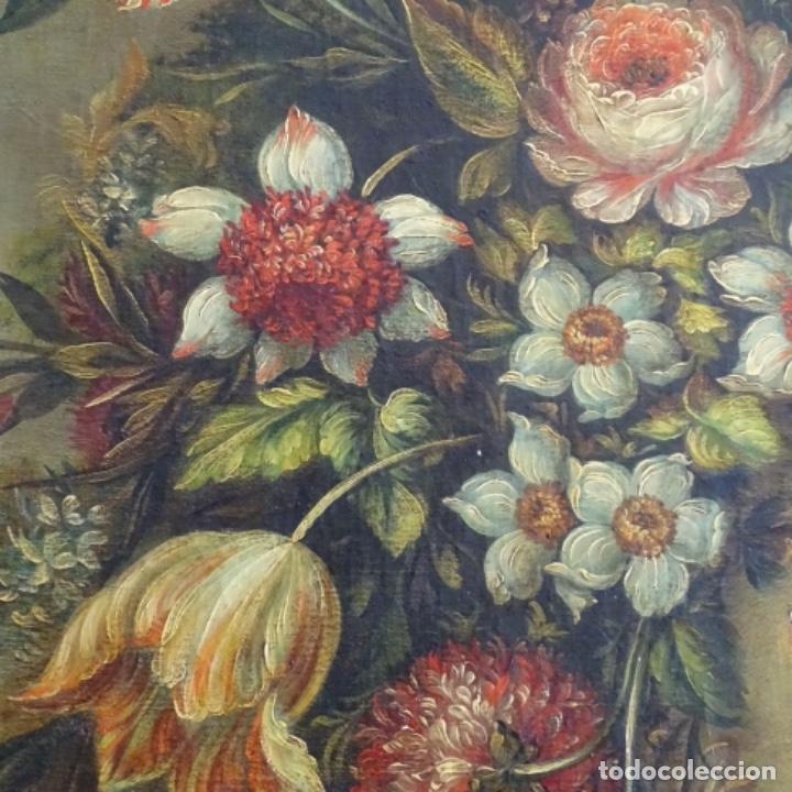 Arte: Óleo anonimo del siglo xviii-xix con mueble de madera tallado y espejos.gran calidad. - Foto 7 - 153742766