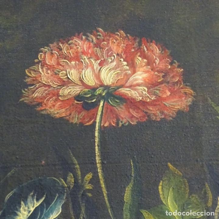 Arte: Óleo anonimo del siglo xviii-xix con mueble de madera tallado y espejos.gran calidad. - Foto 9 - 153742766