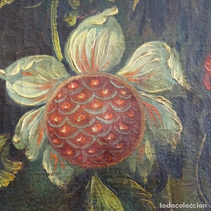 Arte: Óleo anonimo del siglo xviii-xix con mueble de madera tallado y espejos.gran calidad. - Foto 11 - 153742766