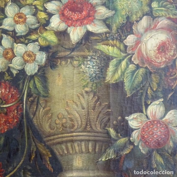 Arte: Óleo anonimo del siglo xviii-xix con mueble de madera tallado y espejos.gran calidad. - Foto 12 - 153742766