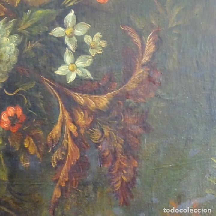 Arte: Óleo anonimo del siglo xviii-xix con mueble de madera tallado y espejos.gran calidad. - Foto 13 - 153742766