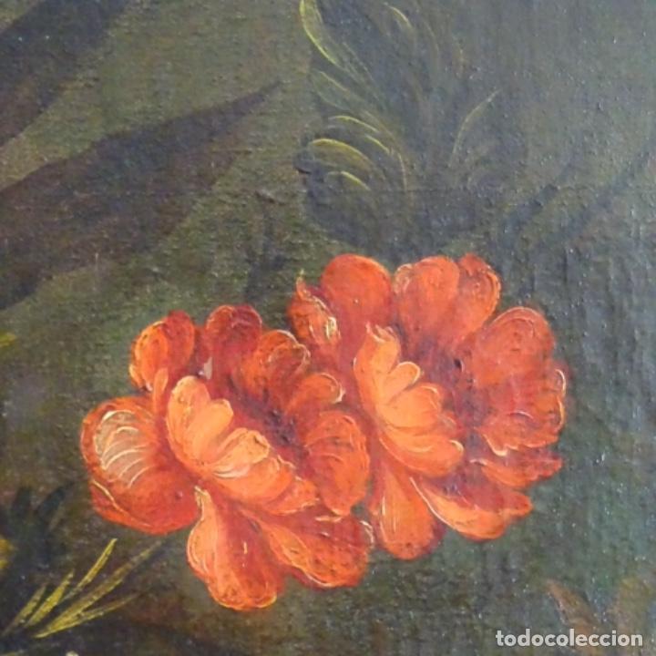 Arte: Óleo anonimo del siglo xviii-xix con mueble de madera tallado y espejos.gran calidad. - Foto 14 - 153742766