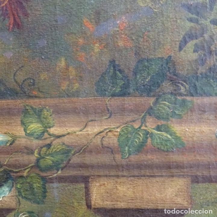 Arte: Óleo anonimo del siglo xviii-xix con mueble de madera tallado y espejos.gran calidad. - Foto 15 - 153742766