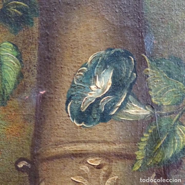 Arte: Óleo anonimo del siglo xviii-xix con mueble de madera tallado y espejos.gran calidad. - Foto 16 - 153742766